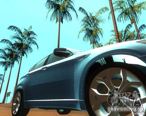 BMW Motorsport X6 M v. 2.0 для GTA San Andreas вид сзади