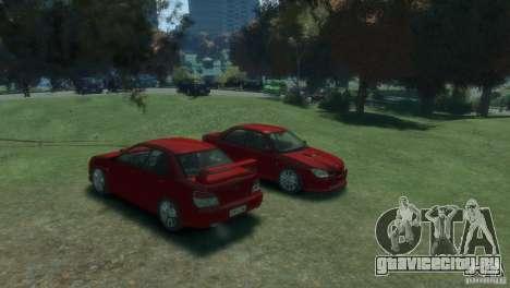 Subaru Impreza WRX STI для GTA 4 вид справа