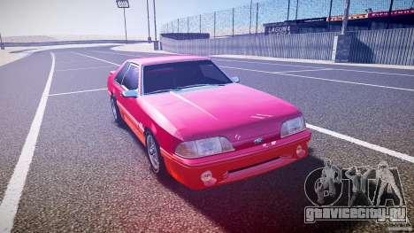Ford Mustang GT 1993 Rims 2 для GTA 4 вид сзади