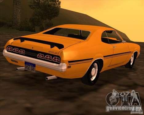 Mercury Cyclone Spoiler 1970 для GTA San Andreas вид сзади