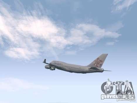 Boeing 747-400 China Airlines для GTA San Andreas вид справа