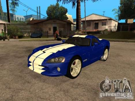 Dodge Viper Coupe 2008 для GTA San Andreas вид изнутри