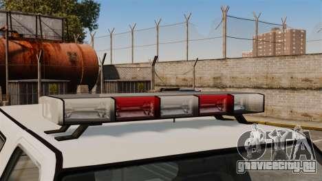 Полицейский Rancher ELS для GTA 4 вид сзади