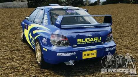 Subaru Impreza WRX STI N12 для GTA 4 вид сзади слева