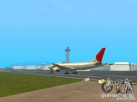 Boeing 777-200 Japan Airlines для GTA San Andreas вид справа