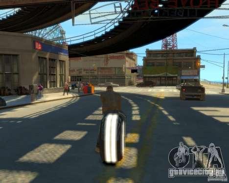 Мотоцикл из Трон (белый неон) для GTA 4 вид слева