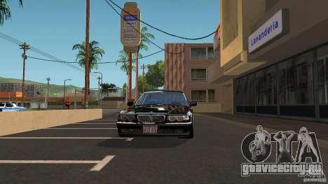 BMW E38 750LI для GTA San Andreas вид сзади