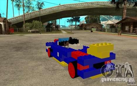 LEGO мобиль для GTA San Andreas вид сзади слева