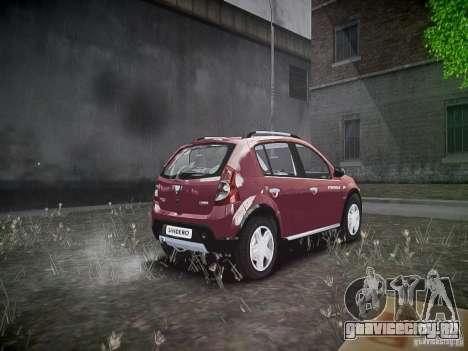 Dacia Sandero Stepway для GTA 4 вид сзади