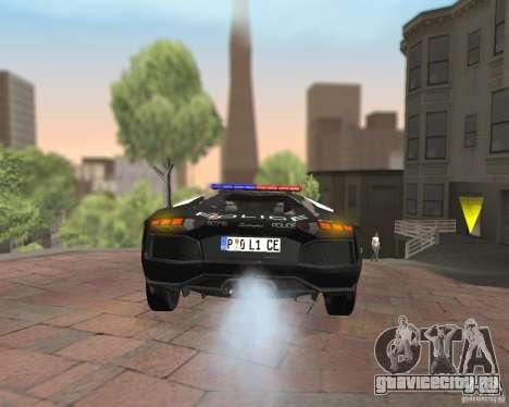 Lamborghini Aventador LP700-4 Police для GTA San Andreas вид изнутри