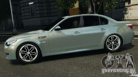 BMW M5 E60 2009 v2.0 для GTA 4 вид слева