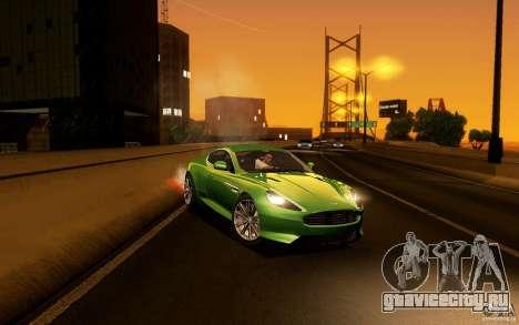 Aston Martin Virage V1.0 для GTA San Andreas вид сбоку