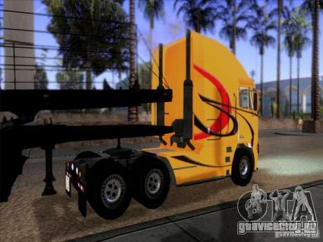 Freightliner Argosy Skin 2 для GTA San Andreas вид сзади слева