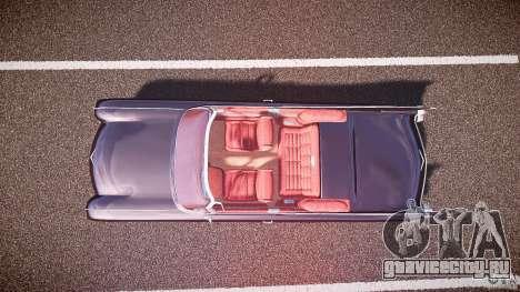Cadillac Eldorado 1959 interior red для GTA 4 вид сзади