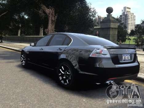 Pontiac G8 GXP для GTA 4 вид слева