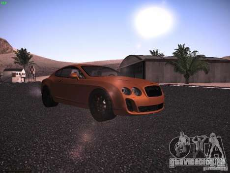 Bentley Continetal SS Dubai Gold Edition для GTA San Andreas вид слева
