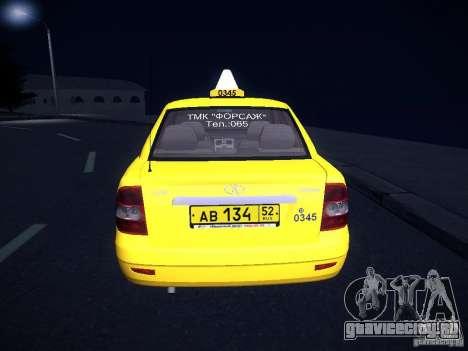ВАЗ 2170 Приора Такси ТМК Форсаж для GTA San Andreas вид сбоку