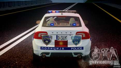 Volvo S60 Macedonian Police [ELS] для GTA 4 салон