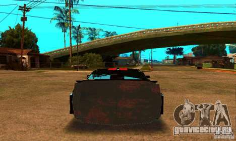 Ford Mustang Shelby GT500 From Death Race Script для GTA San Andreas вид сзади слева