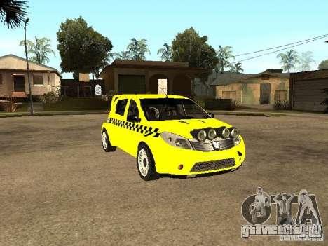 Dacia Sandero Speed Taxi для GTA San Andreas вид сзади