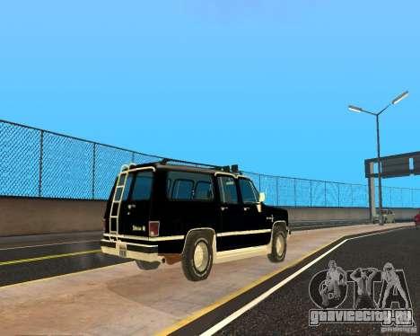 Сhevrolet Suburban 1986 для GTA San Andreas вид сзади слева