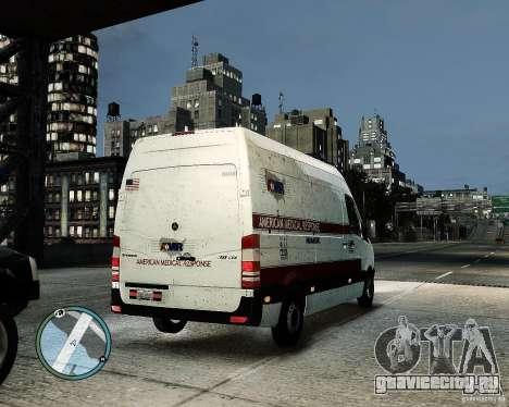 Mercedes Benz Sprinter American Medical Response для GTA 4 вид сзади