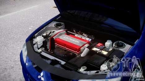 Mitsubishi Lancer Evolution VIII для GTA 4 вид сзади