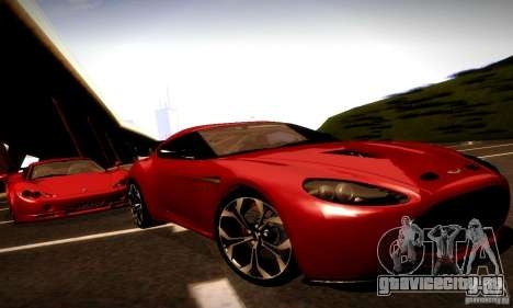 Aston Martin V12 Zagato Final для GTA San Andreas вид сзади