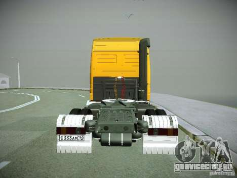 Mercedes-Benz Actros РосНефть для GTA San Andreas вид сзади