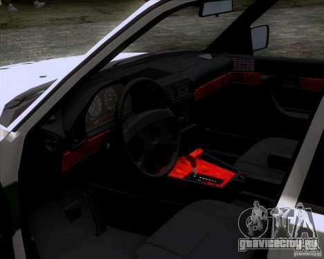 BMW E34 Policija для GTA San Andreas вид справа