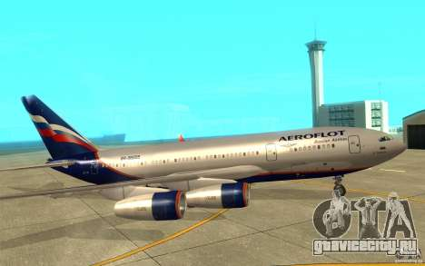 Ил-96 300 Аэрофлот в новых цветах для GTA San Andreas вид сзади слева