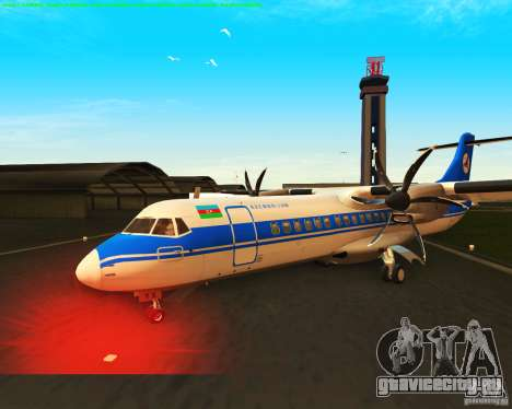 ATR 72-500 Azerbaijan Airlines для GTA San Andreas вид изнутри