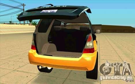 Subaru Forester Cross Sport 2005 для GTA San Andreas вид сзади