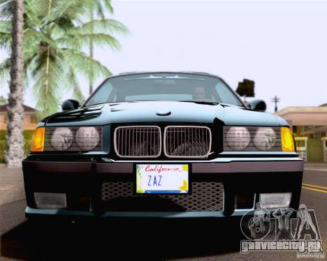 BMW M3 E36 New Wheels для GTA San Andreas вид сверху