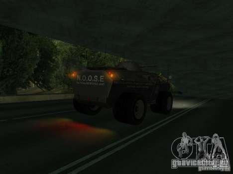 APC из GTA TBoGT IVF для GTA San Andreas вид сзади слева