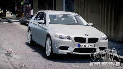 BMW M5 F11 Touring для GTA 4 вид сзади