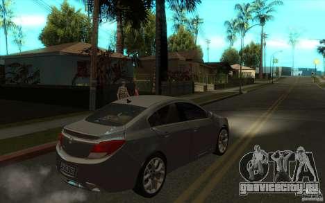 Opel Insignia 2011 для GTA San Andreas вид справа