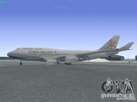 Boeing 747-400 China Airlines для GTA San Andreas вид слева