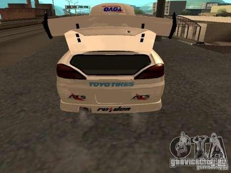 Nissan s15 Performa Drift для GTA San Andreas вид сзади