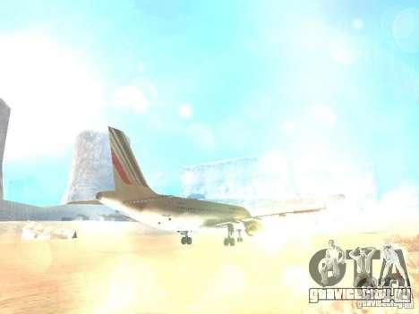 Airbus A320 Air France для GTA San Andreas вид сбоку