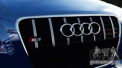 Audi S3 2010 v1.0 для GTA 4 вид сзади слева