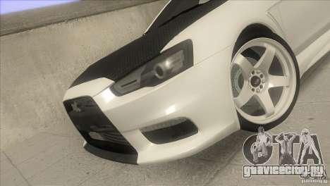 Mitsubishi Lancer Evo IX DIM для GTA San Andreas вид сбоку