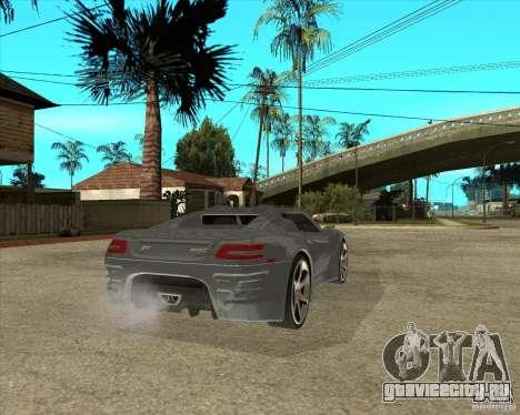 Барс Теория Гранд Туризмо для GTA San Andreas вид сзади слева
