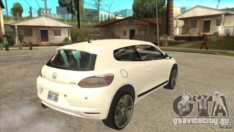 Volkswagen Scirocco 2009 для GTA San Andreas вид справа