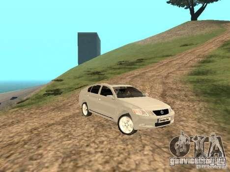 Lexus GS-350 для GTA San Andreas вид сбоку