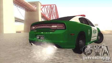 Dodge Charger SRT8 Carabineros для GTA San Andreas вид сзади слева