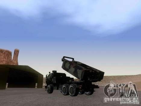 M142 HIMARS Artillery для GTA San Andreas вид слева