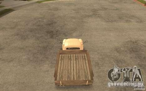 ГАЗ-52 для GTA San Andreas вид изнутри