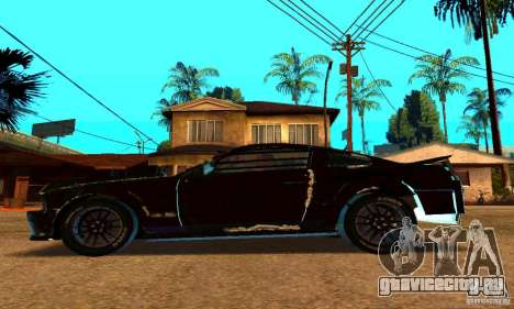 Ford Mustang Shelby GT500 From Death Race Script для GTA San Andreas вид слева