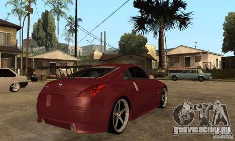 Nissan 350Z JC2 для GTA San Andreas вид справа